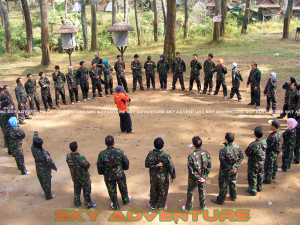 paintball simulation war games bank mandiri RCO Jakarta kota di jungle cikole lembang bandung jawa barat indonesia (1)