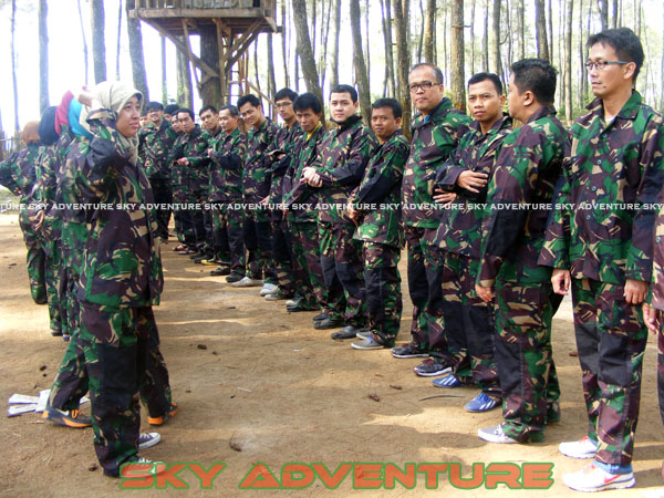 paintball simulation war games bank mandiri RCO Jakarta kota di jungle cikole lembang bandung jawa barat indonesia (10)