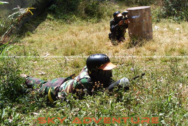 paintball simulation war games bank mandiri RCO Jakarta kota di jungle cikole lembang bandung jawa barat indonesia (26)