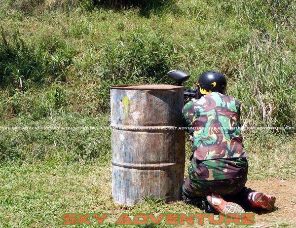 paintball simulation war games bank mandiri RCO Jakarta kota di jungle cikole lembang bandung jawa barat indonesia (39)