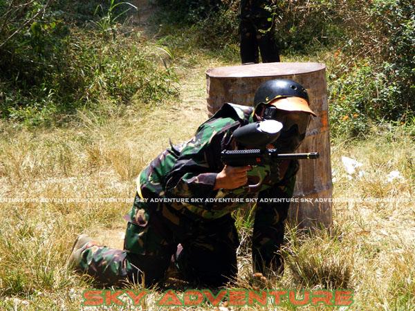 paintball simulation war games bank mandiri RCO Jakarta kota di jungle cikole lembang bandung jawa barat indonesia (44)