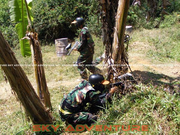 paintball simulation war games bank mandiri RCO Jakarta kota di jungle cikole lembang bandung jawa barat indonesia (49)
