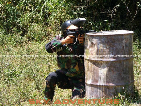 paintball simulation war games bank mandiri RCO Jakarta kota di jungle cikole lembang bandung jawa barat indonesia (56)