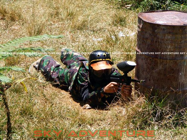 paintball simulation war games bank mandiri RCO Jakarta kota di jungle cikole lembang bandung jawa barat indonesia (69)