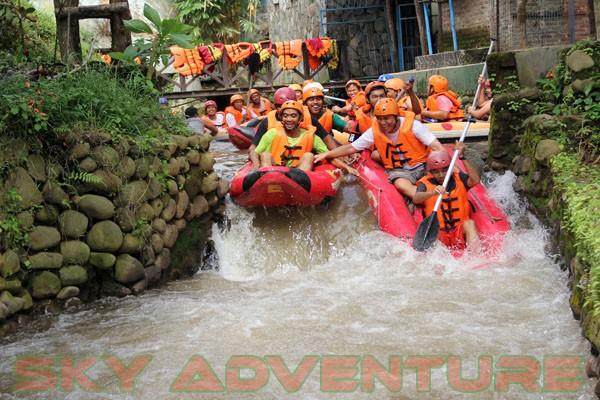 Rafting Arung Jeram Ciater | OUTBOUND LEMBANG BANDUNG-SKY ADVENTURE on